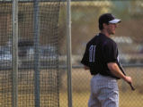 Brad Hawpe gets ready to take some bunting practice Sunday February 26, 2006 in Tucson Arizona.The...