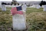 """White Man Runs Him"" a Crow Indian who was a scout for Custer, is buried at the National..."