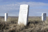 Monuments marking where soldiers of Company L , commanded by Lt. james Calhoun from the Seventh...