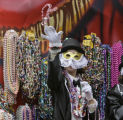 (NYT22) NEW ORLEANS, La. -- Feb. 28, 2006 -- MARDI-GRAS-2 -- Members of the Golden Comanches march...