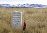 A monument marking where a soldier of Company C from the Seventh Calvary fell in June 25, 2006, is...