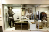 The Custer artifacts on display at the museum at the Little Bighorn Battlefield National Monument,...
