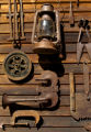 **FOR SPOTLIGHT Rusty objects hand on the exterior of Michael and Kathy McCoy's home in Buena...