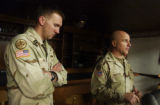 L to R: Capt. Brian Oman (cq) and Col. H. R. McMaster (cq) reflect on their recent tour of duty in...