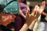 (DENVER, CO., MAY 6, 2004)  Spirit Miracle, of Denver, CO., prays during the National Payer Day,...