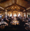 Dining at the Alpenglow Stube at Keystone Resort.  Located at 11,444 feet, the Stube is one of the...