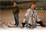 The 2006 Rocky Mountain News All-Colorado hockey team at the Family Sports Center in Centennial on...