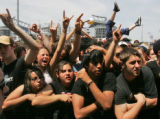 Fans of the bad Rise Against crowd the Jank-N-the-Box Stage during the 2006 Vans Warped Tour...