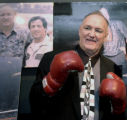 NYET119 - **FILE**Former heavyweight boxing champion Chuck Wepner poses Nov. 13, 2003, in New...