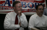 GOP 5th District Congressional Candidate State Se. Doug lamborn and his campaign mgr John Vander...