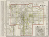 Clason's guide map of Denver and suburbs Colorado