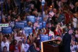 Sen. John Kerry at the Democratic National Convention at the Pepsi Center in Denver on Wednesday,...